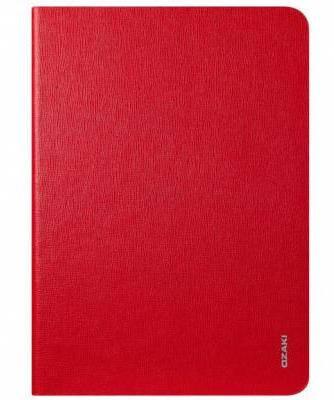 """Женский строгий чехол для планшета диагональю 9.7"""" OZAKI O!coat Slim iPad Air (Red) OC109RD"""