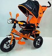 Трехколесный велосипед с фарой Lambordgini WS-610 (оранжевый, фиолетовый)