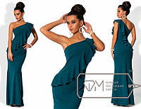 Красивое длинное женское платье в пол на одно плечо