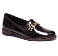Черные туфли с металлическим декором