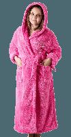 Плотный женский махровый халат