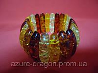 Браслеты из янтаря разной формы