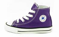 Детские кеды Converse All Star High violet