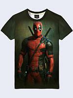 Мужская футболка с 3Д рисунком  Deadpool