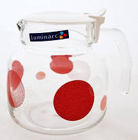 Чайник заварочный с термостойкого стекла Constellation red  Luminarc  4408 1,4 л
