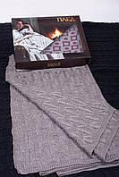 Уютный домашний вязанный плед, фото 1