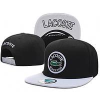 Кепка Lacoste Snapback Black-White
