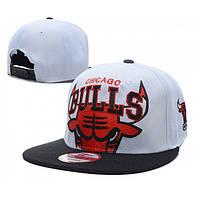 Кепка Chicago Bulls Snapback White-Red