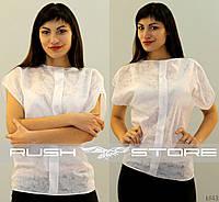 Женская блузка белая батистовая