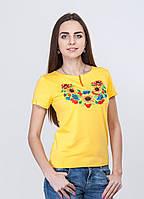 """Женская  вышиванка """"Подсолнухи"""" желтый"""