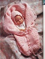 Вязанный плед ручной работы  для новорожденного