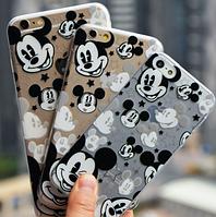 """Силиконовый чехол """"Микки Маусы"""" для iphone 6 plus"""