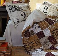 Комплект постельного белья KARACA HOME винтаж  COOL бордовый