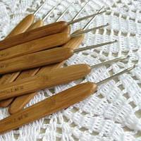 Крючки для вязания бамбуковые набор 10 шт