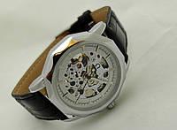 Часы мужские Omega - skeleton, механика с автозаводом, золотой с черным циферблат