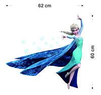 Наклейка виниловая Холодное сердце (Frozen) Эльза 3D декор