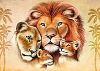 """Схема для бисера животные хищники, """"Львиная семья"""""""
