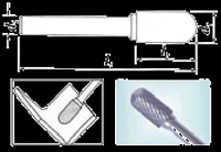 Проминструмент Борфреза сфероцил С 12,5х20х8х80 ВК8  Борфрезы твердосплавные