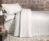 Комплект постельного белья с покрывалом (однотонный кремовый), Турция (TM Aran Classy)