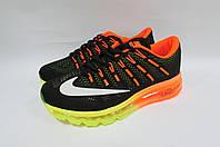 Кроссовки мужские Nike Air Max (806771-081) черно-оранжевые код 0206А