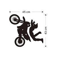 Наклейка виниловая Мотоциклист 3D декор