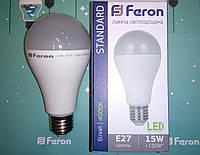 Светодиодная лампа типа А60 Feron LB-715 15W 4000K  для общего и декоративного освещения