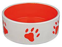 Миска керамическая 0,3л, 12см для собак и кошек