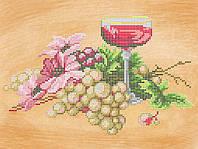 """Схема для частичной вышивки бисером """"Вино и виноград"""" А-537"""