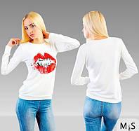 Кофта женская москино губы
