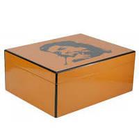 "Хьюмидор 0256400 для 50 сигар ""Che Guevara"", желтый лак, 30x24x12 см"