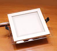 Встраиваемый светодиодный светильник Feron AL2111 12W (со стеклом)