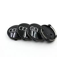 Заглушки колпачки литых дисков Audi 59mm чёрные