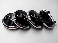 Заглушки колпачки литых дисков Audi 77mm Q7 4l0601170 чёрные