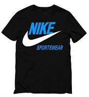 Стильная мужская футболка черная Nike Sportswear