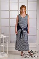 Платье-майка длинное в морском стиле