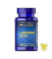 Puritan's Pride L-arginine, 500 гр, 100 капс.