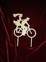 Топпер Пара на велосипеде (14 х 13 см), декор