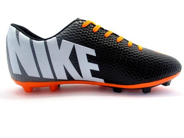 Футбольные бутсы Nike Mercurial FG Black/Orange