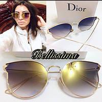 Модные женские солнцезащитные очки в тонкой оправе (3 цвета линз) y-4316168