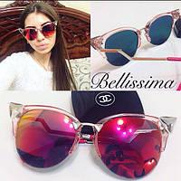 Модные женские очки от солнца в прозрачной необычной оправе r-4316171