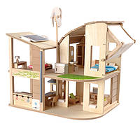 Зеленый кукольный домик с мебелью Plan Тoys