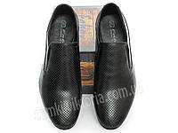 Летние туфли мужские перфорированные Faber