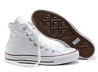 Женские высокие кеды Converse Chuck Taylor All Star (конверс, конверсы оригинал) белые