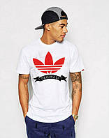 Стильная мужская футболка белая Adidas Originals