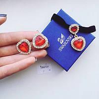 Набор украшений Подвеска и серьги Heart красный, украшения