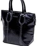 Классическая черная сумка с белой строчкой Velina Fabbiano