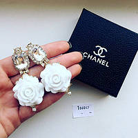 Серьги D&G White Roses, сережки женские
