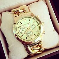 Часы женские Michael Kors Цепь золотые, магазин наручных часов