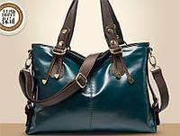 Женская сумка цвета морской волны