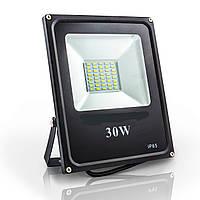 Светодиодный прожектор 30w 6500K IP65 SMD (LED прожектор уличный)